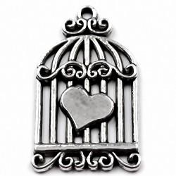 """Подвеска """"Сердце в клетке"""" 130818"""
