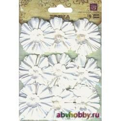 Бумажные цветы INNOSCENCE с бусинкой, 540227