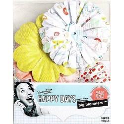 """Набор декоративных элементов """"Крупные цветы"""" Happy Days PMA 368120"""