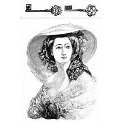 """Штамп силиконовый """"Мадам Хлоя и ключи"""" La Blanche 1243"""