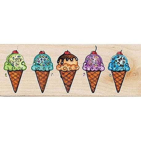 """Штамп резиновый """"Мороженое"""" 30021"""