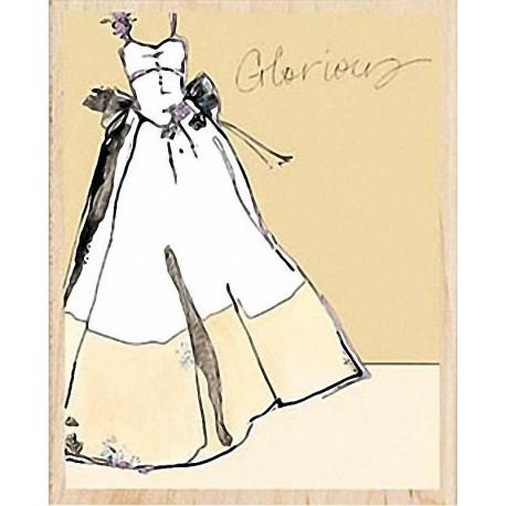 """Штамп резиновый """"Свадебное платье"""" 80432"""