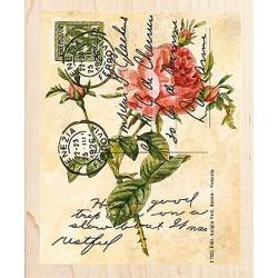 """Штамп резиновый """"Открытка с розой"""" 90432"""