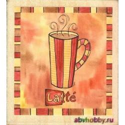 """Штамп резиновый """"Кофе Латте"""" 20113"""