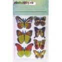 """3D наклейки """"Бабочки"""" BTFLBG-02"""
