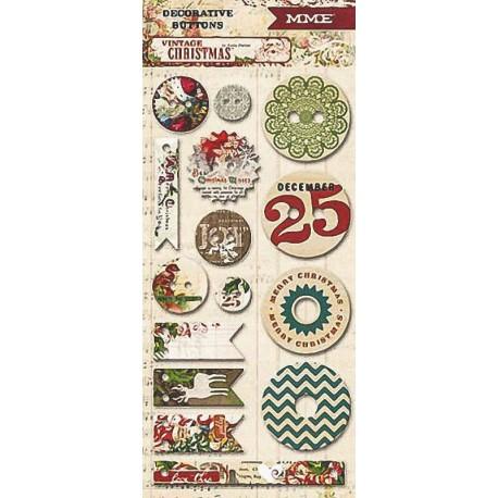 "Декоративные пуговицы My Mind's Eye ""Vintage Christmas"" VC1015"