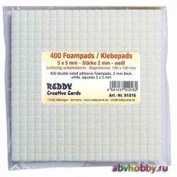 Пластинки двусторонние самоклеящиеся REDDY Creative Cards 91016