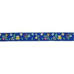 """Лента репсовая с рисунком """"Полевые цветы"""" 7715263"""