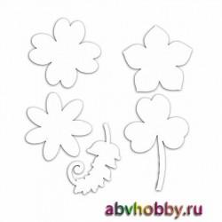 Чипборд из микрогофрокартона «Цветы» AHM110002