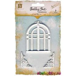 "Набор объемных элементов из пластика ""Old Church Window"" коллекции ARCHITECTURE 890704"
