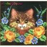"""Набор для изготовления коврика """"Котёнок в цветах"""" 37750"""