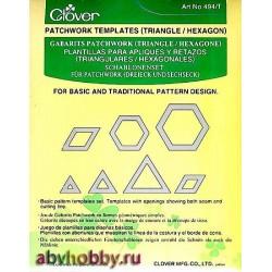 Набор шаблонов для пэчворка Clover 494/T
