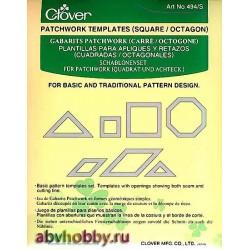 Набор шаблонов для пэчворка Clover 494/S