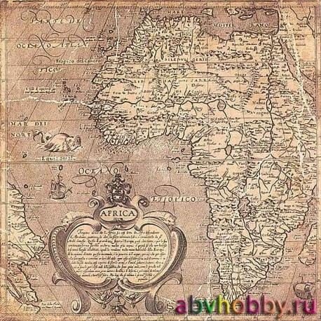 """Винтажная двусторонняя бумага """"Global"""" 7Gypsies 19417"""