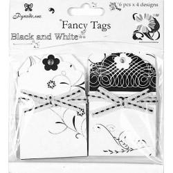 """Набор тегов """"Белое и черное"""" TAG07"""