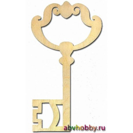 """Заготовка деревянная """"Ключ №3"""" 046124"""