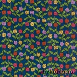 """Ткань """"Pom Pom Flowers"""" Benartex P652-55"""