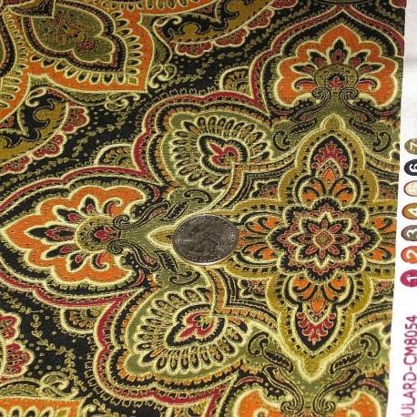 "Ткань ""Classic Foulard Brown"" Benartex 8054M70B"