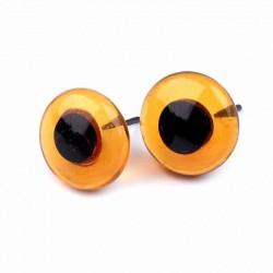 Глазки стеклянные на металлической ножке 15 мм GLYS15