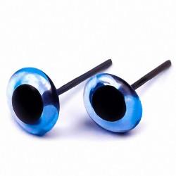 Глазки стеклянные на металлической ножке 13 мм GLYS13