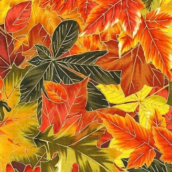 "Ткань ""Park Leaves Metallic"" Fabri-Quilt 112-26831"