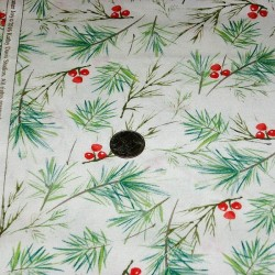 "Ткань ""Winter Melody Pine"" Fabric Traditions 13356-C"
