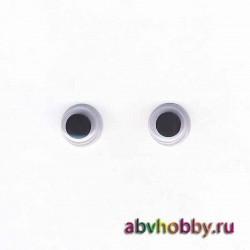 """Глазки пластиковые круглые 9 мм """"Colibry"""" YS09"""