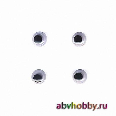 """Глазки пластиковые круглые 7 мм """"Colibry"""" YS07"""